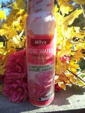 Natural rose water with rose oil 100 ml / 3.38 oz, MILVA LTD