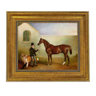 Ashton Being Held Equestrian Fox Hunt Scene Oil Painting Print Reproduction