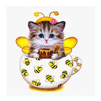 5D Diamond Painting Embroidery Cross Stitch Cat Bee Pictures Arts Craft Kit