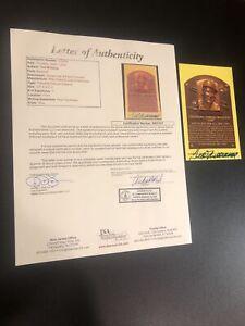 Ted Williams Signed HOF Plaque Postcard Autograph Red Sox JSA LOA HIGH GRADE!!
