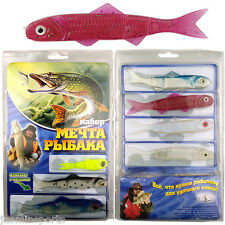 110 Pieces Banjo 006 Minnow Fishing System Soft Plastic Fishing Lures Set New