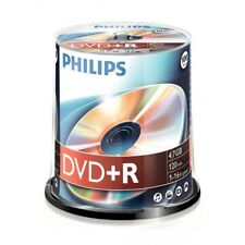 Philips DVD+R Rohlinge 100er Spindel 4.7 GB 16x DR4S6B00F/00 NEU Cakebox