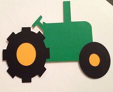 Tractor Die Cut Paper piecing Embellishment Handmade With Card Stock