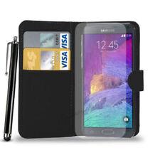 Fundas y carcasas color principal negro de piel para teléfonos móviles y PDAs Samsung