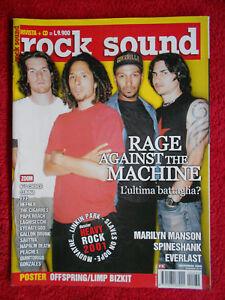rivista ROCK SOUND 32/2000 POSTER Offspring Rage Against The Machine  No cd