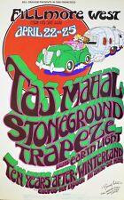Taj Mahal Poster 1971 BG277 ORIGINAL Signed by Randy Tuten