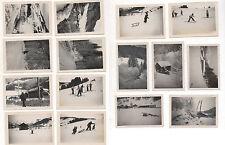 Lot 15 PHOTOS Snapshot Sports d'Hiver Ski Luge Montagne Col des Gets Alpes 1930