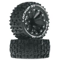 NEW Duratrax Traxxas Rustler Stampede Jato Lockup Mounted Offset Blk Tires/Wh...
