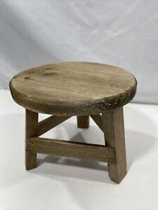 "Rustix Small Wooden Stool Rustic Decorative Mini Stool Ideal Accent Stool ( 6"" )"