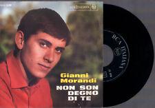 """GIANNI MORANDI NON SON DEGNO DI TE + PER UNA NOTTE NO RCA PM45 - 3290 7"""" 45 GIRI"""