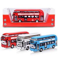 Alloy Bus Model 1/50 London Decker Diecast w/ light & sound Toy Gift