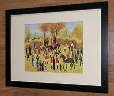Hunting meeting framed wall art -12''x16'' frame, Clewes. victorian figures