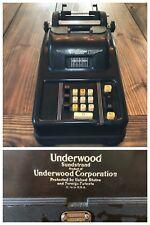 Vintage Underwood Sundstrand Corporation Adding Machine Antique Great Condition