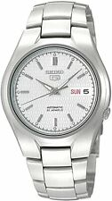 Seiko 5 Classic Men's Size Silver Dial Stainless Steel Strap Watch