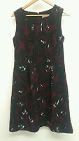 Tu Plum Dress Size 14 Floral <J3772