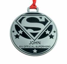 Personalised Superhero Medal 7cm Diameter Metallic Finish Odmed004