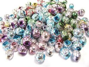 Aluminum Beads Bulk For Jewelry Making Silver Metal Beads Large Hole 200 pcs