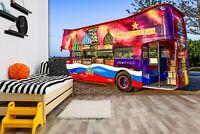 3D Graffiti Bus Bar R80 Transport Wallpaper Mural Sefl-adhesive Removable Zoe