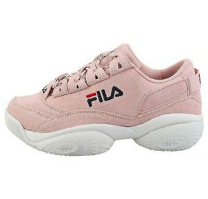 FILA Women's Shoe Provenance Suede Sneaker - Peach Pink / White Size US 6.5