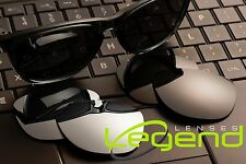 New Oakley FROGSKIN replacement POLARIZED TITANIUM MIRROR & DARK BLACK (Legend)