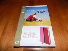 BUSY MOM'S BIBLE ZONDERVAN BIBLES NIV New International Version Italian Duo Tone