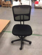 Collection Swivel Mesh Back Armless Task Chair In Black