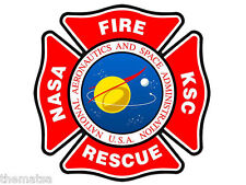 "NASA FIRE RESCUE 4"" HELMET TOOLBOX CAR BUMPER STICKER DECAL USA MADE"