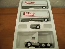 BILLINGS FREIGHT SYSTEMS DOUBLES TRACTOR TRAILER DIECAST WINROSS TRUCK