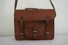 "Vintage Leather Messenger Bag 13"" Macbook Briefcase Laptop Satchel Shoulder Bag"