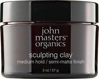 Medium Hold Semi-Matte Finish Sculpting Clay by John Masters Organics, 2 oz