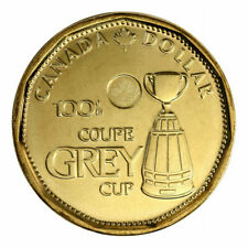 Canada 1 Dollar Coin Loonie 100th Anniversary of CFL Grey Cup, 2012
