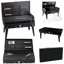 BBQ BLACK STEEL GRILL FOLDING PORTABLE OUTDOOR GRILL FOOD BARBEQUE