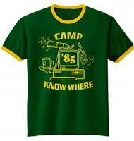 STRANGER THINGS CAMP KNOW WHERE SHIRT Dustin Henderson HALLOWEEN COSTUME