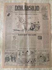 Don Basilio n.11 - 12 marzo 1950 settimanale satirico d'opposizione