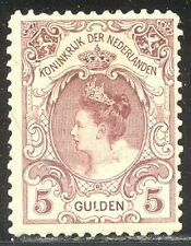 NETHERLANDS #85 Mint - 1899 5g Claret ($225)