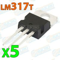 Regulador tension ajustable LM317T LM317 1,2v/37v 1,5A TO-220 - Lote 5 unidades