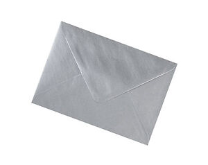 C7 Silver Metallic Envelopes 100gsm - All Quantities