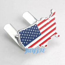 Metal United States America USA Land Flag Hood Front Grill Badge Emblem for Ford