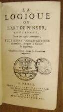 ARNAULD (Antoine). - La logique ou l'art de penser. 1683. Port Royal