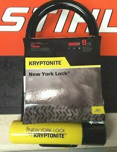 Kryptonite New York Lock Standard (STD) New-U Model With U-Bracket 9/10 Security