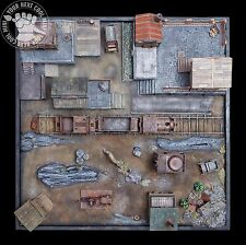 Malifaux Railway Station, hand-crafted, pro-painted 3D playing board Malifaux
