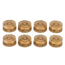 Electric Guitar Speed Control Knobs for Guitar Parts Replacement  Gold Pack of 8