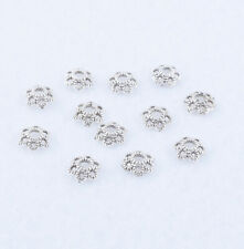Antique Silver Bead Caps Small Flower End Bead Jewelry Accessories Finding 6x2mm