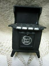 Vtg.Toy Miniature  BLUE BIRD Black Cast Iron Gas Stove/Oven for Doll House