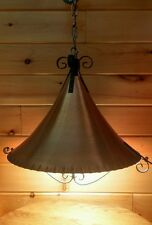 VTG Mid Century Hanging Ceiling Light/Lamp, Copper Rustic Arts & Crafts Fixture
