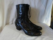 Antique VICTORIAN EDWARDIAN Soft Leather GRANNY Lace Up BOOTS Steampunk Sz 5