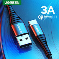 Ugreen Braided 3A USB C Cable USB To Type C Fast Charging Cable Date Cord QC3.0