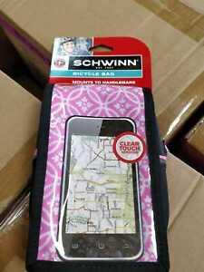 "Schwinn Bicycle Bicycle Bag Universal Cell Phones Holder Fits up 6"" phones, PINK"
