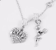 Cheer chain Cheerleader necklace Cheering Cheer Pendent Cheerleader cheer leader