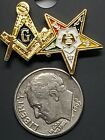 Mason Blue Lodge/OES Lapel Pin - OES Eastern Star Mason Masonic Combo Lapel Pin